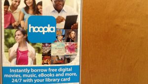 Hoopla Poster at Suffern Library